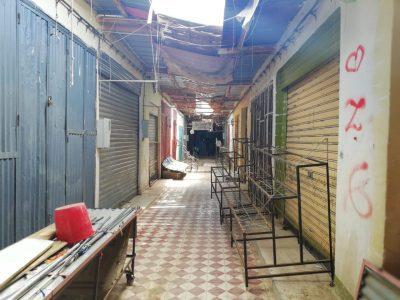 محلات مغلقة بسبب الركود في السوق المؤقت